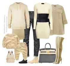 """""""Sandy Family"""" by efiaeemnxo ❤ liked on Polyvore featuring G-Star, Thom Krom, Marc Jacobs, Hermès, H&M, Gianvito Rossi, Common Projects, MCM, adidas and Alex Perry"""