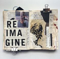 Awesome art journal piece by /misty/.granade Loving how she integrated a piece of the May calendar from April's #MakerMonthly box by makermonthly