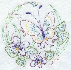 Paper Embroidery Ideas Machine Embroidery Designs at Embroidery Library! French Knot Embroidery, Butterfly Embroidery, Paper Embroidery, Learn Embroidery, Vintage Embroidery, Cross Stitch Embroidery, Embroidered Butterflies, Embroidery Ideas, Embroidery Transfers