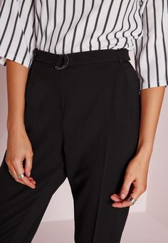 007468f17a20 The cigarette trouser should be a staple piece of every girl  wardrobe and  this pair ticks all our boxes. With its D ring belt detail and flattering  leg ...