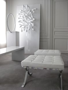 NP apartment in Paris, classic mixed with modern furniture and minimal art_