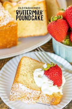 Old Fashioned Buttermilk Pound Cake – seriously the BEST pound cake we've ever made! SO delicious! SO light and fluffy! 5 Flavor Pound Cake, Pound Cake Recipes, Pound Cakes, Southern Desserts, Just Desserts, Delicious Desserts, Baking Desserts, Holiday Desserts, Dessert Dips
