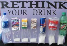 Rethink your drink! Look at all that sugar! Water is always your best option for hydration - unless you need to replenish electrolytes. If so, coconut water is a better choice than sports drinks. If you have a really long/hard workout, you need to eat a small meal containing protein and complex carbs and drink water or coconut water with that meal.