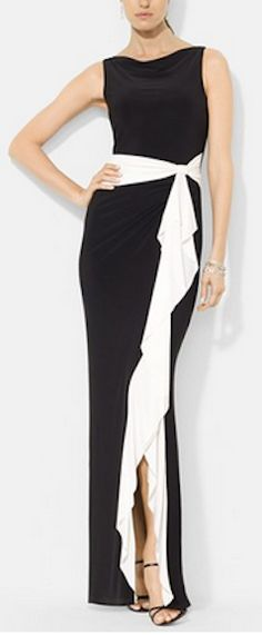 Two toned ruffled jersey gown http://rstyle.me/n/kqhpmnyg6
