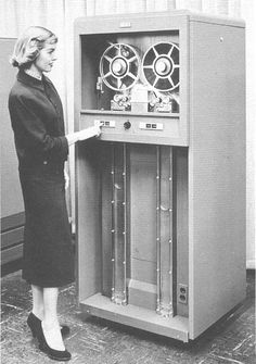 IBM 701 tape drive the first magnetic tape drive for computer data storage.