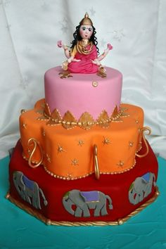 Bollywood Birthday Cake This is a caramel mud and two tiers of white coconut mud cake(both Boonenati& recipes) covered in ganache and. Indian Cake, Indian Wedding Cakes, Pinterest Board, Bollywood Cake, Mud Cake, Cake Decorating Videos, Indian Desserts, Sweets Cake, Cupcake Cookies