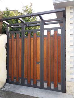 Home Gate Design, Fence Gate Design, Steel Gate Design, Front Gate Design, Main Gate Design, House Design, Modern Entrance Door, Main Entrance Door Design, Gate Designs Modern
