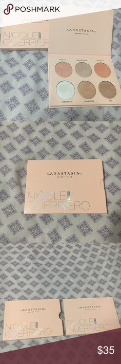 Anastasia Beverly Hills Nicole Guerriero glow kit Limited edition ABH glow kit. Only swatched never used as the shades shifted ashy on my skin. Never dipped a brush in it either just finger swatched. Tried twice to use it and both times were a fail. Very pigmented perfect for a subtle look or full glam. Anastasia Beverly Hills Makeup Luminizer