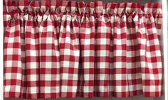 Classic Check Valance in Barn Red (as Shown), Black & Denim. Staring @ $24.99. To Order Call toll-free 877-722-1100