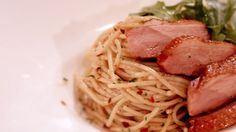 Spicy chicken alfredo pasta asian food channel pasta recipes savor this quick and easy seafood pasta recipe by sarah benjamin forumfinder Choice Image