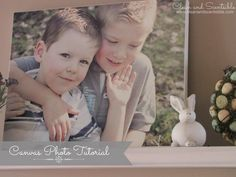 Clean & Scentsible: DIY Photo Canvases