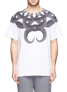 MARCELO BURLONTel-Aviv abstract print cotton T-shirt