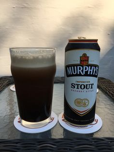 Murphy's Irish Stout:  Day 316: Murphy's Irish Stout from Murphy Brewery Ireland. Style of beer is 'Dry Stout'. ABV is 4.0%.   Read more at http://www.beerinfinity.com/beer-of-the-day-murphys-irish-stout/.