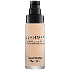 SEPHORA COLLECTION 10 HR Wear Perfection Foundation 22 Light Natural (P) oz A weightless foundation with buildable coverage that blurs imperfections and conceals blemishes for a smooth and natural finish Coverage: Medium. Oil Free Foundation, No Foundation Makeup, Organic Foundation, Foundation Dupes, Antioxidant Vitamins, Permanent Makeup, Makeup Tips, Makeup Products, Beauty Products
