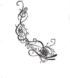 Roses and Thorns | Teen Pen & Ink About nature, tattoo, roses, thorns, ink and design
