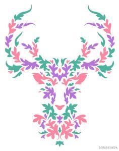my deer, papercutting, paper cutting, diy