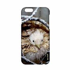 "iPhone case with image from my photo gallery, ""Snowbird"""