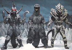 Gigan, Godzilla & Monster X from Godzilla: Final Wars