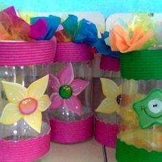 Como hacer souvenir con botellas de plastico para niñas