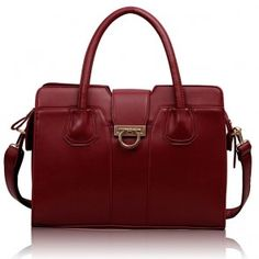 Geanta Mara Gold Handbags, Satchel Handbags, Shoulder Handbags, Burgundy, Handle, Classy Fashion, Casual, Womens Fashion, Red