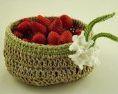 Yet another feature in a treasury1 Crochet Hemp Basket with Spring Crocus Flowers Accent