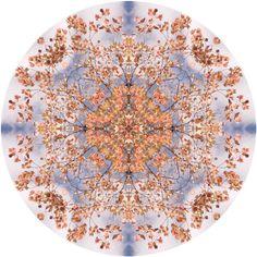 Large Mandala Print, Large Wall Art, Orange, Blue, Geometric Art, Wall Decor, Large Print, Peaceful Art by RockyTopPrintShop on Etsy