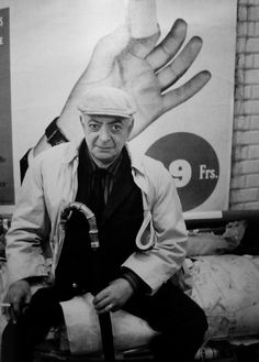 My friend Brassaï, 1963 by André Kertész.  Black and white photography
