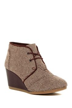 73bfb0dee92 Desert Chukka Wedge Bootie by TOMS on  nordstrom rack Toms Sale