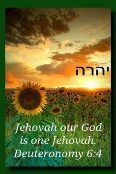 "Deuteronomy 6:4 reads: "" Listen, O Israel: Jehovah our God is one Jehovah."