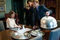 Doves, anyone? Rose Byrne and Simon Baker in I Give It A Year
