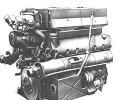 A V-12 Maybach HL 230 TRM P45 engine used in the Panther V tank series variants