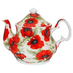 Poppy Chintz Teapot - 6 Cup                                                                                                                                                                                 Mais