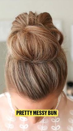 Beauty Skin, Hair Beauty, Easy Hairstyles, Long Hairstyle, Teddy Girl, Prom Dresses Long Pink, Makeup Course, Messy Bun, Makeup Tips