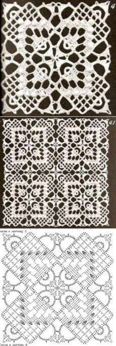 36 Ideas For Crochet Lace Fabric Doilies Crochet Doily Diagram, Crochet Motifs, Crochet Blocks, Basic Crochet Stitches, Crochet Art, Crochet Squares, Crochet Home, Thread Crochet, Crochet Granny