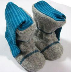 Stiefel & Booties - Booties für Babytrage aus Schurwolle- Tragestiefel - ein Designerstück von grims bei DaWanda