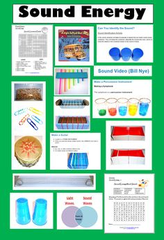 15 Fun Resources for Teaching about Sound Energy (Learning Ideas - Grades - - 15 Fun Resources for Teaching about Sound Energy (Learning Ideas – Grades Fourth Grade Science Activities and Experiments 15 Fun Resources for Teaching about Sound Energy Grade 3 Science, Sound Science, Elementary Science, Science Classroom, Teaching Science, Science Education, Science For Kids, Science Fun, Science Ideas