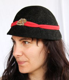 c4a7458bb98ed Items similar to Vintage Wool Felt Hat  Formal  Costume on Etsy
