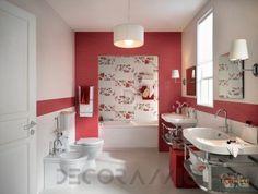 #red #bathroom  #design #interior #style #tiles Настенная плитка FAP Materia, FAP Materia 3