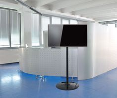 """Elio tv stand is conceived to support flat screens and monitors up to 55"""". Ideal to be used within offices, meeting rooms and welcome areas."""
