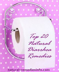 Top 20 Natural Diarrhea Remedies  1. Salt and sugar  2. Ginger tea  3. Carrot juice  4. Brown rice  5. Lemons  6. Wheat grass powder  7. Fresh lime juice, cornstarch and water  8. Mango juice and ginger  9. Buttermilk  10. Carrot soup  11. Apple cider vinegar  12. Blueberries  13. Activated charcoal  14. Cottage cheese and sour cream  15. Honey  16. Nutmeg  17. Orange juice, sugar, salt and water  18. Pumpkin  19. Tapioca  20. Wild oregano oil #diarrhea #remedies