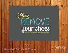 Please remove your shoes - PRINTABLE sign