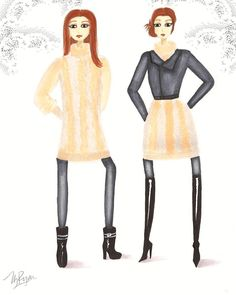 Day to Night #fashionillustration #sketch #drawing