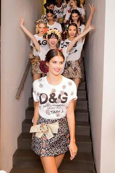 Behind-the-scenes at Dolce & Gabbana during Milan Fashion Week. Photographed by Kevin Tachman.