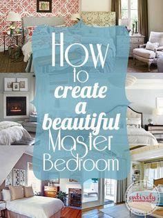 Simple tips for creating a romantic master bedroom. entirelyeventfulday.com #bedroom