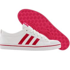 adidas shoes white with red stripes