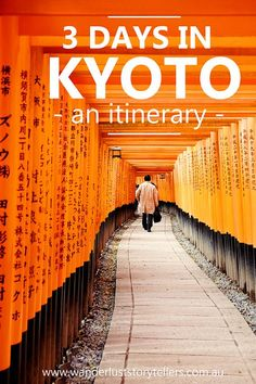 Kyoto is such a large city and it can be hard to figure out what to see and what to skip! Our handy 3 day Kyoto Itinerary will help you fit in all the top things of what there is to see in Kyoto! From the Kyoto Bamboo Forest, to Fushimi Inari Shrines to the Gion District and don't forget about the prettiest street in Asia - Click to read more! via @wstorytellers