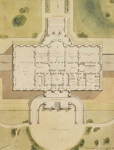 Latrobe White House Library of Congress. Architecture Drawings, Classical Architecture, Architecture Plan, Architecture Details, Dream House Plans, House Floor Plans, White House Tour, Architectural Floor Plans, Garden Design Plans