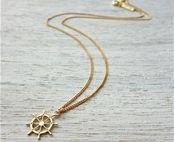 Tiny Wheel Necklace