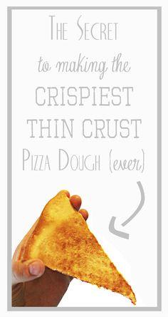 The Crispiest, Flakiest, Thin Crust Pizza Dough Recipe EVER!