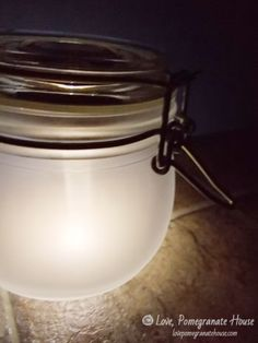 DIY Solar Jars - instead of gluing solar light to the top of jar lid, maybe place inside of the jar so it can be used for other purposes when not being used as a solar light.